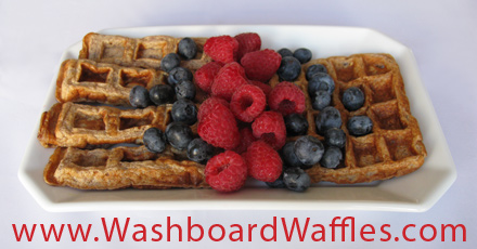 High-Protein Wheat-Free Washboard Waffles